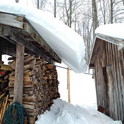 West Grey Maple Syrup shack in winter